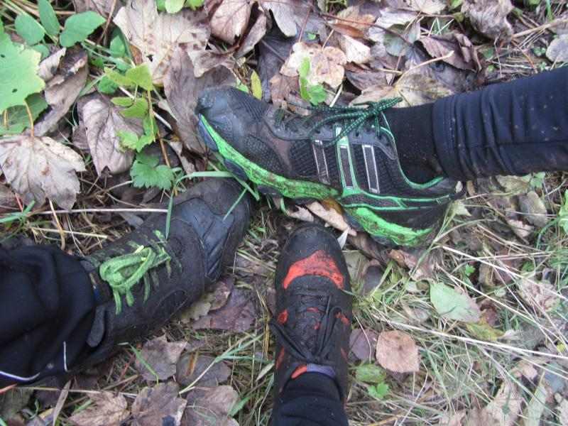 Mucky shoes at the end of a winter fell run